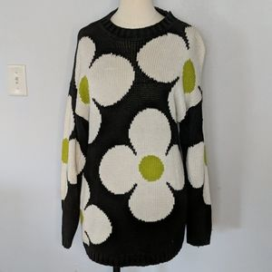 Vintage Mod Daisy Sweater Size One Size Fits Most